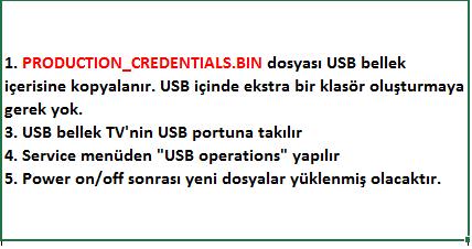 CI-Credentials-Key-Yukleme-6 VESTEL, 17MB8X, YAZILIM, YÜKLEME, TALİMATI, MAİNBOARD, ANAKART, ŞASE