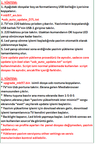 Core-Software-Update-5 VESTEL, 17MB97, YAZILIM, YÜKLEME, TALİMATI, MAİNBOARD, ANAKART, ŞASE