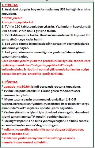Core-Software-Update-7 VESTEL, 17MB9X, YAZILIM, YÜKLEME, TALİMATI, MAİNBOARD, ANAKART, ŞASE
