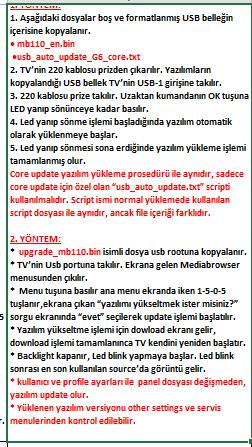 Core-Software-Update-9 VESTEL, 17MB110, YAZILIM, YÜKLEME, TALİMATI, MAİNBOARD, ANAKART, ŞASE