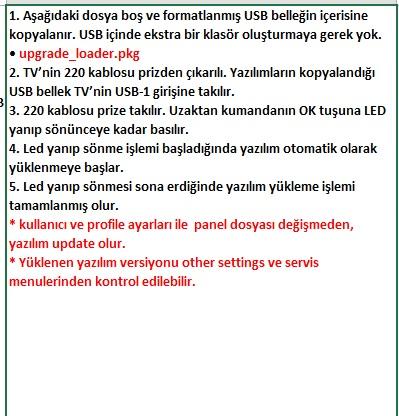 Core-Software-Update VESTEL, 17MB8X, YAZILIM, YÜKLEME, TALİMATI, MAİNBOARD, ANAKART, ŞASE