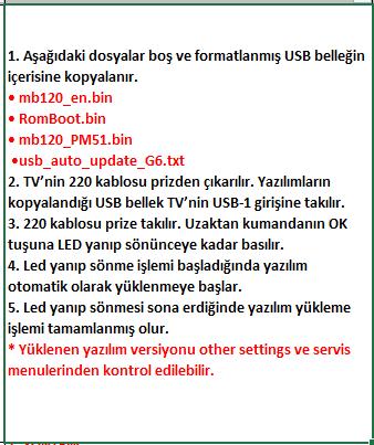 Full-Software-Update-3 VESTEL, 17MB120, YAZILIM, YÜKLEME, TALİMATI, MAİNBOARD, ANAKART, ŞASE