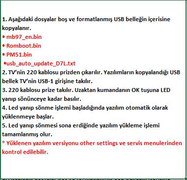 Full-Software-Update-5 VESTEL, 17MB97, YAZILIM, YÜKLEME, TALİMATI, MAİNBOARD, ANAKART, ŞASE