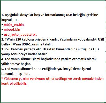 Full-Software-Update-7 VESTEL, 17MB9X, YAZILIM, YÜKLEME, TALİMATI, MAİNBOARD, ANAKART, ŞASE