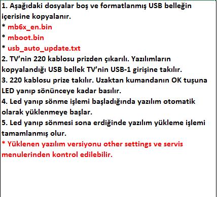 Full-Software-Update-8 VESTEL, 17MB6X, YAZILIM, YÜKLEME, TALİMATI, MAİNBOARD, ANAKART, ŞASE