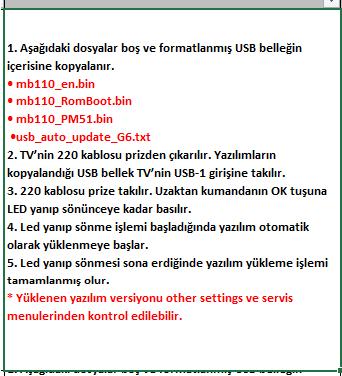 Full-Software-Update-9 VESTEL, 17MB110, YAZILIM, YÜKLEME, TALİMATI, MAİNBOARD, ANAKART, ŞASE