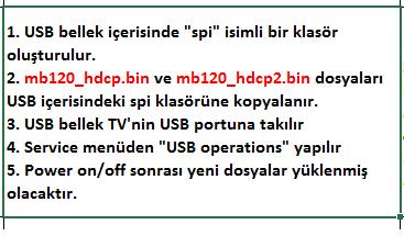 HDCP-Key-Yukleme-2 VESTEL, 17MB120, YAZILIM, YÜKLEME, TALİMATI, MAİNBOARD, ANAKART, ŞASE