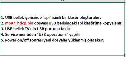 HDCP-Key-Yukleme-4 VESTEL, 17MB97, YAZILIM, YÜKLEME, TALİMATI, MAİNBOARD, ANAKART, ŞASE