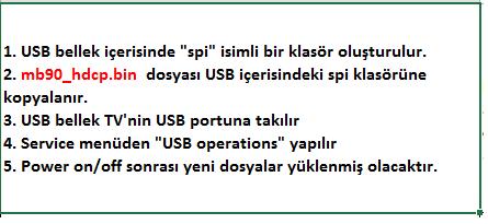 HDCP-Key-Yukleme-6 VESTEL, 17MB9X, YAZILIM, YÜKLEME, TALİMATI, MAİNBOARD, ANAKART, ŞASE