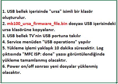 MFC-Firmware-Yukleme-1 VESTEL, 17MB100, YAZILIM, YÜKLEME, TALİMATI, MAİNBOARD, ANAKART, ŞASE