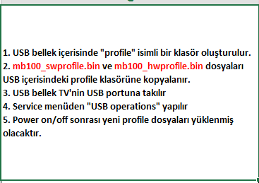 Profile-Update-2 VESTEL, 17MB100, YAZILIM, YÜKLEME, TALİMATI, MAİNBOARD, ANAKART, ŞASE
