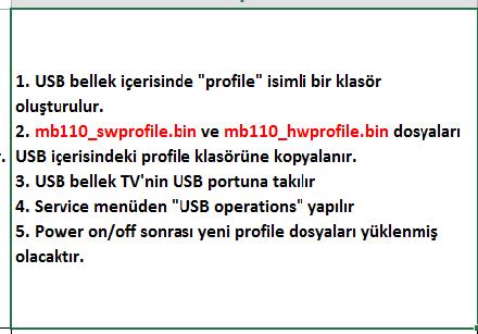 Profile-Update-7 VESTEL, 17MB110, YAZILIM, YÜKLEME, TALİMATI, MAİNBOARD, ANAKART, ŞASE